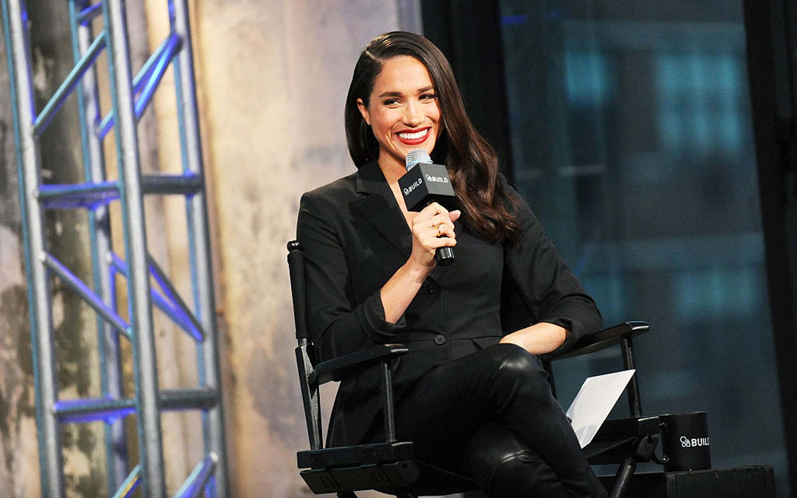 "Actress Meghan Markle discusses her role in the very popular ""Suits during AOL Build at AOL Studios In New York"
