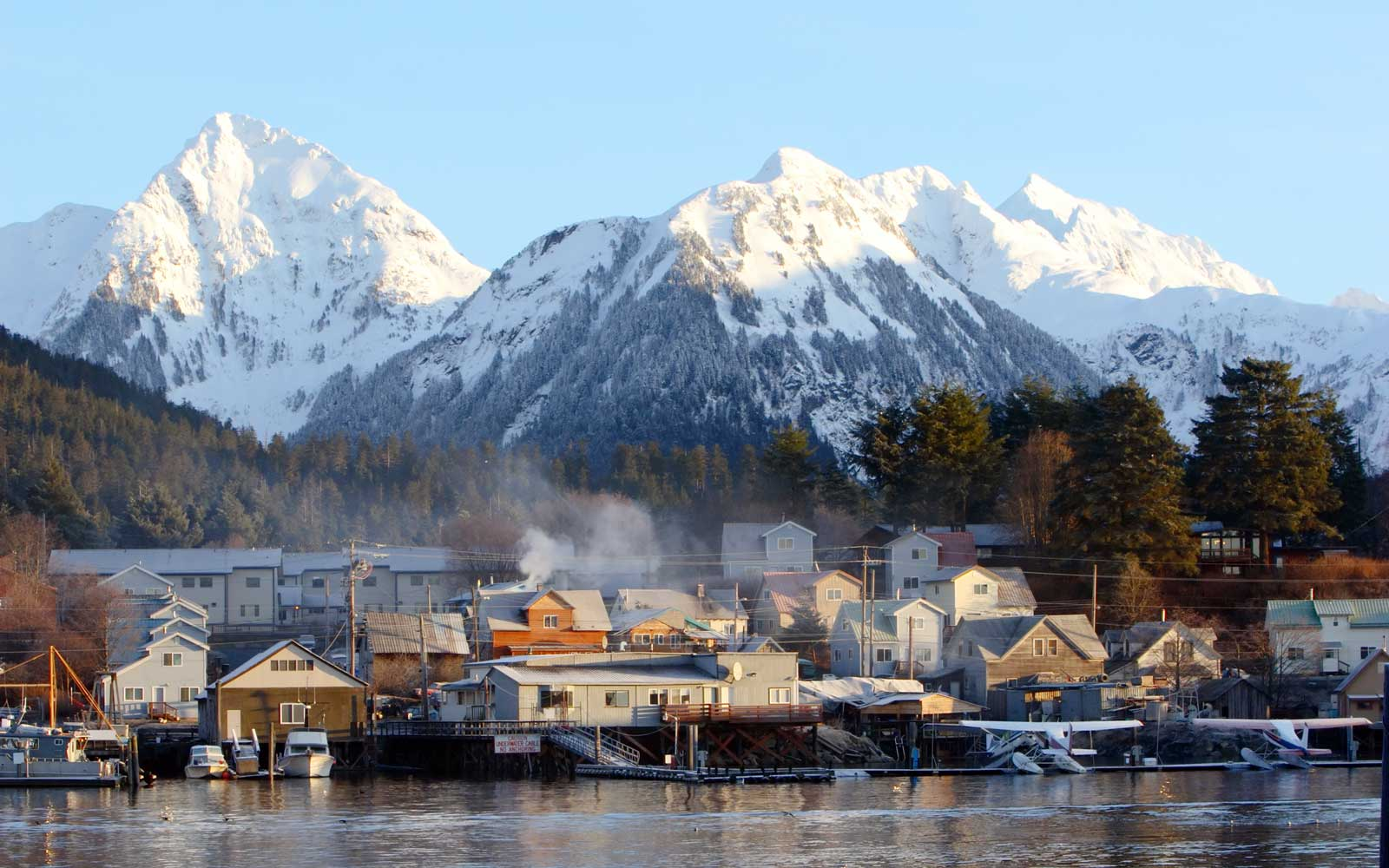 Sitka, Alaska at dawn