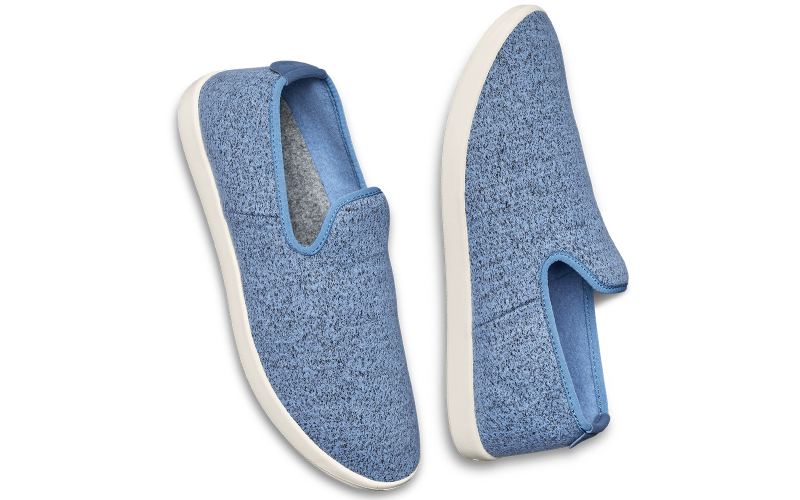 Women's Wool Lounger Slip-ons in Moonstone