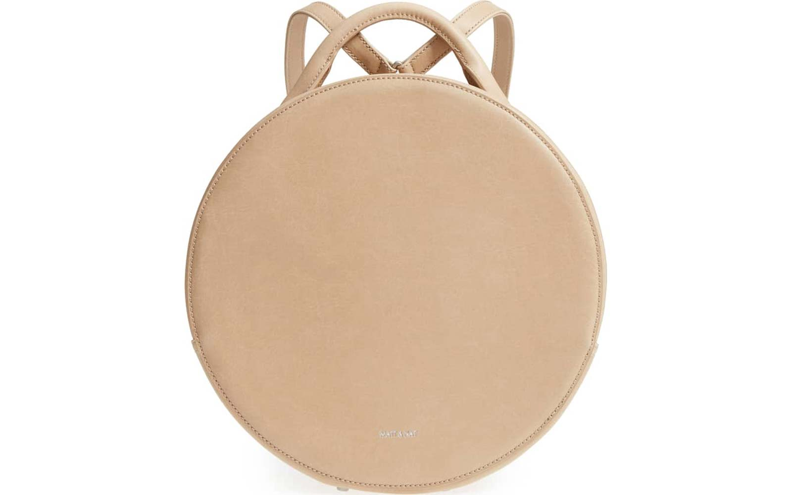 Kiara Faux Leather Circle Backpack