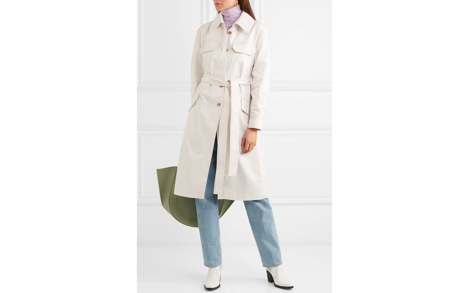 Acne Studios 'Olesia' Cotton-blend Twill Trench Coat
