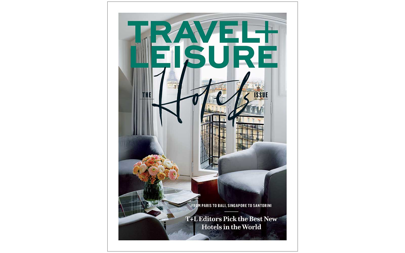 March 2019 Cover of Travel + Leisure magazine, featuring the Lutetia Hotel in Paris, France