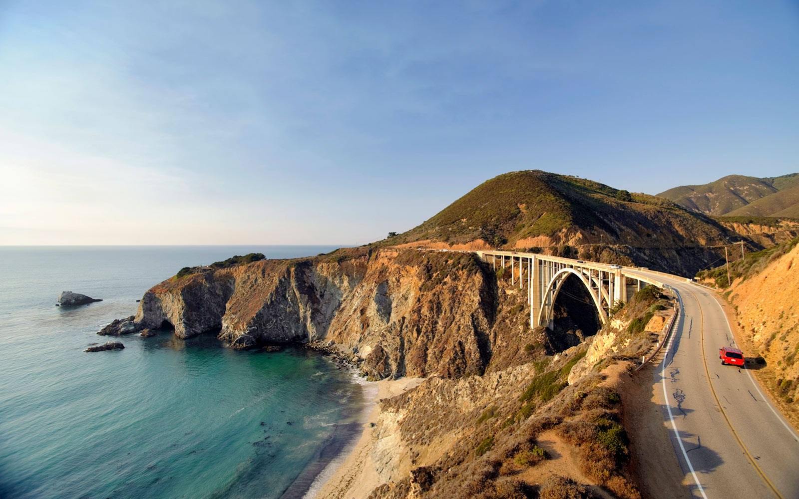 Bixby Creek Bridge, Big Sur, California, Springtime