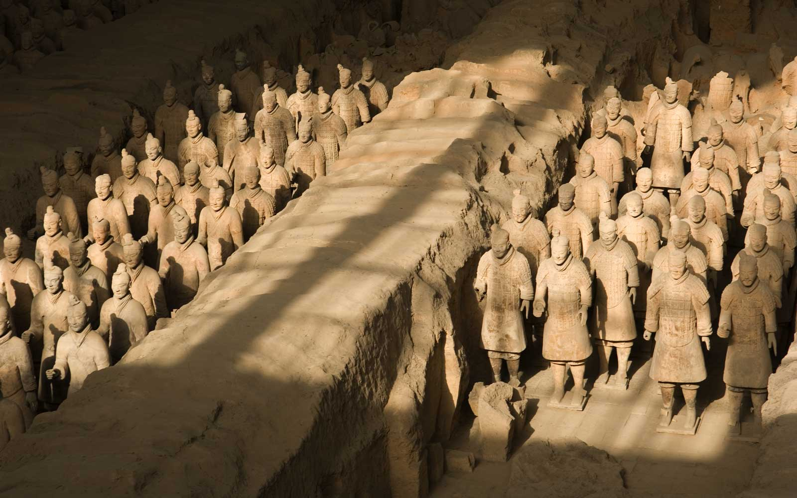 Terracotta soldiers in the Mausoleum of Emperor Qin Shi Huang, Xi'an, Shaanxi Province, China