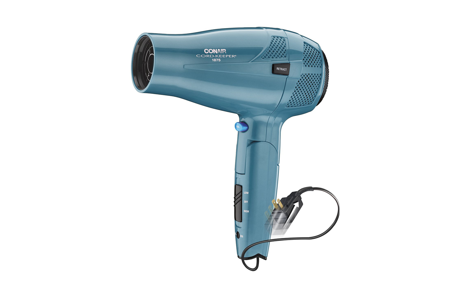Best Travel Hair Dryer With Retractable Cord: Conair Keeper Travel Hair Dryer