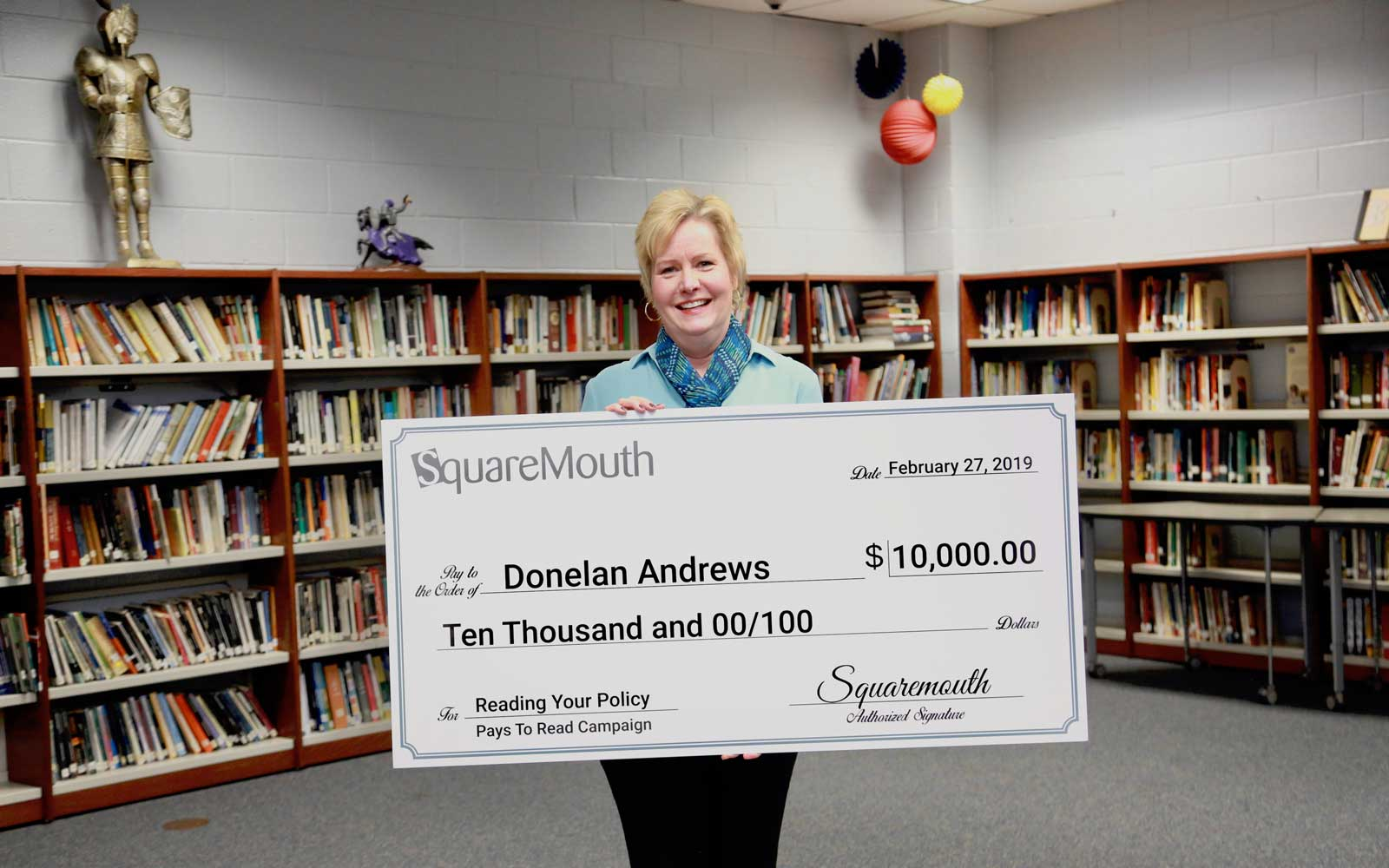 Donelan Andrews wins 10K From Reading Travel Insurance Fine Print