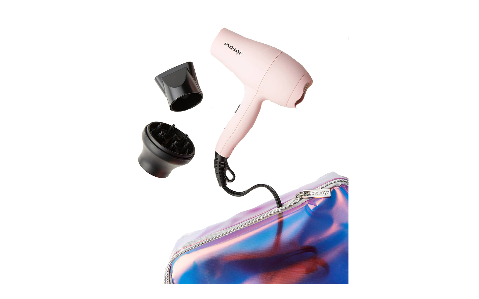 Best Travel Hair Dryer With Extras: Eva NYC Mini Healthy Heat Hair Dryer