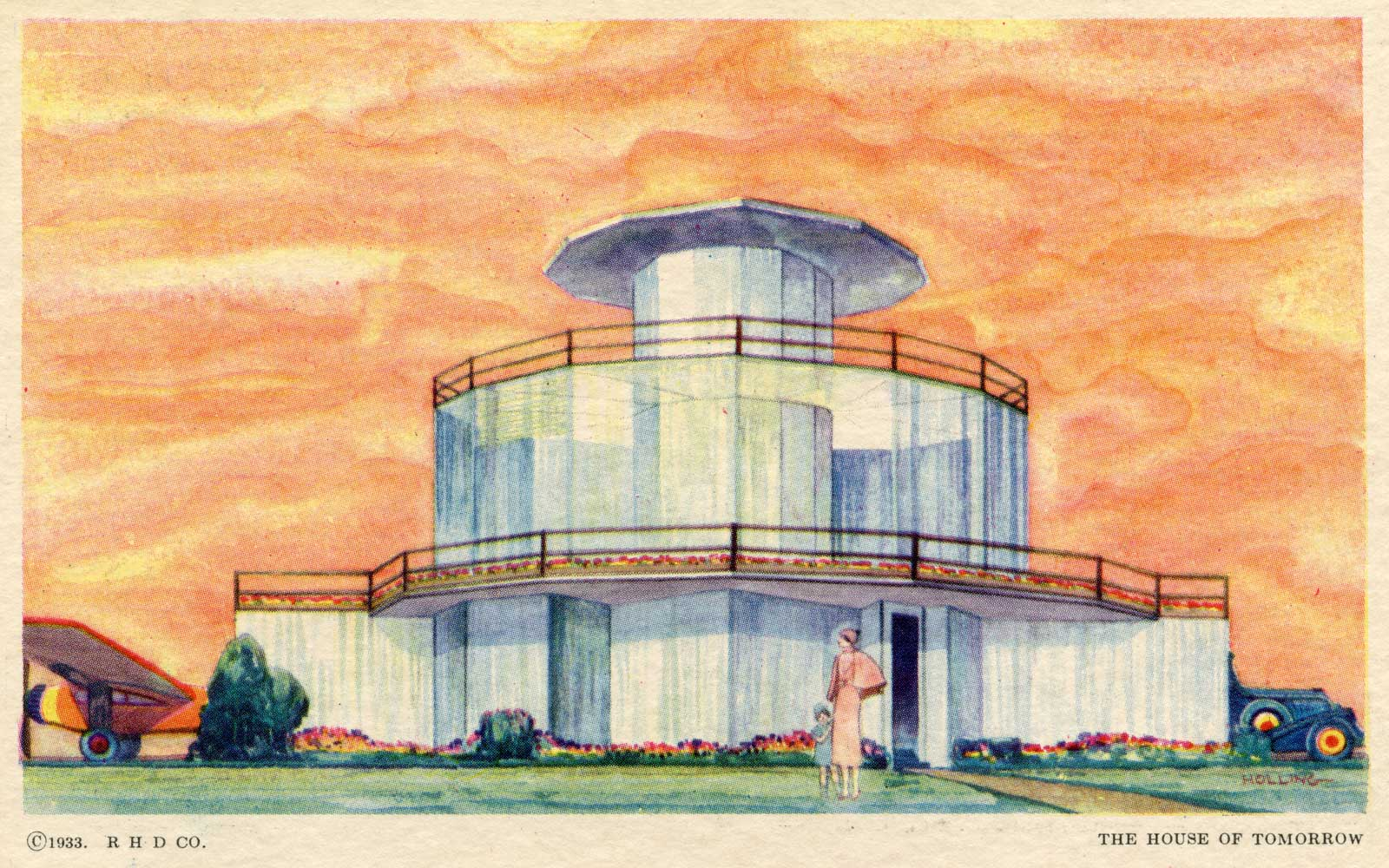 Postcard showing the House of Tomorrow