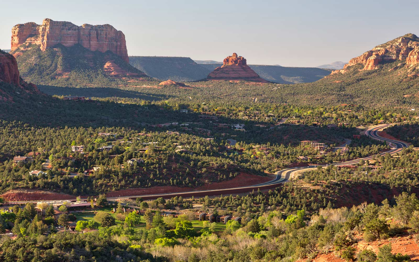 Sedona, Arizona, Highway, Springtime