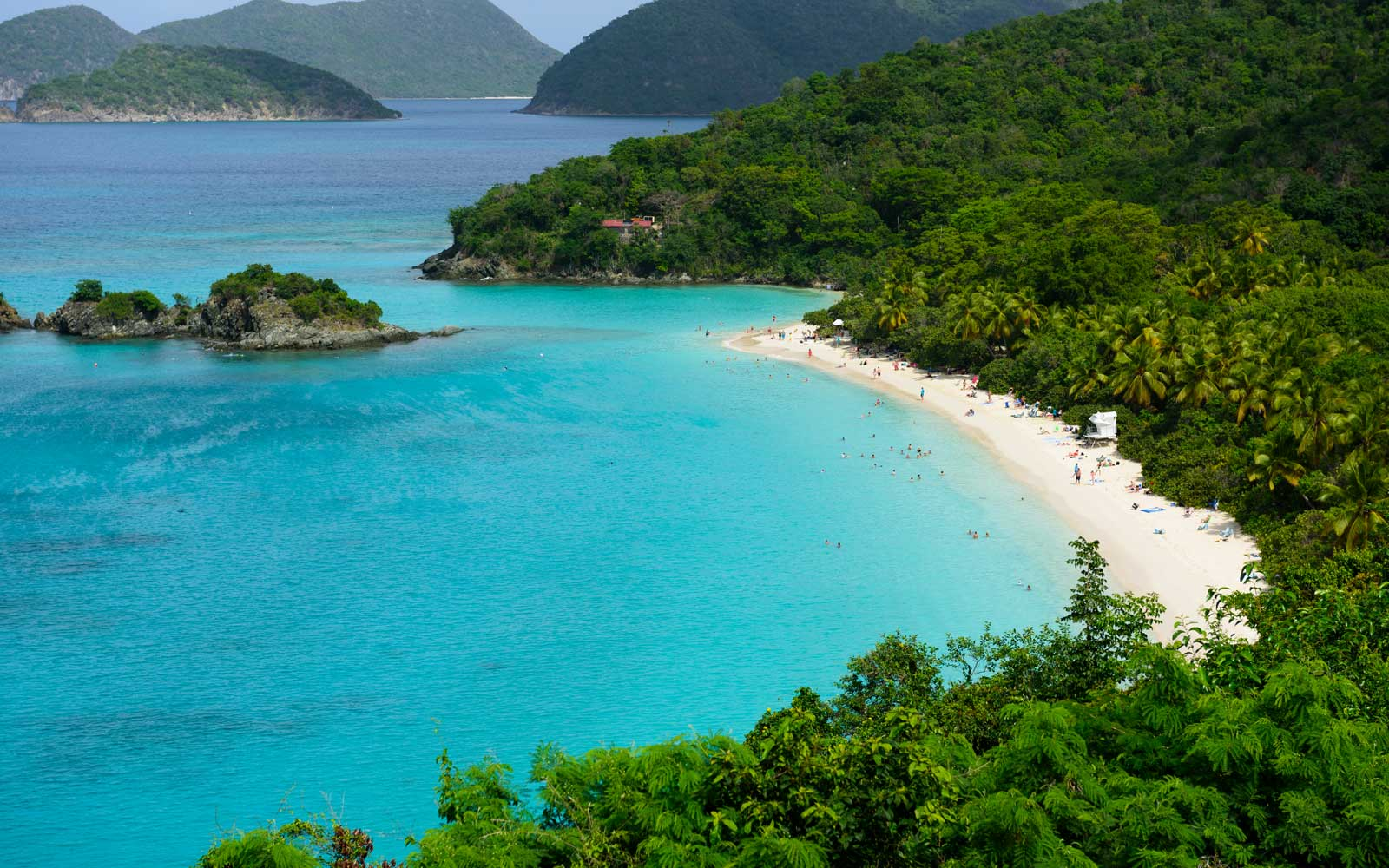 Virgin Islands National Park is home to a variety of beaches that include Trunk Bay.