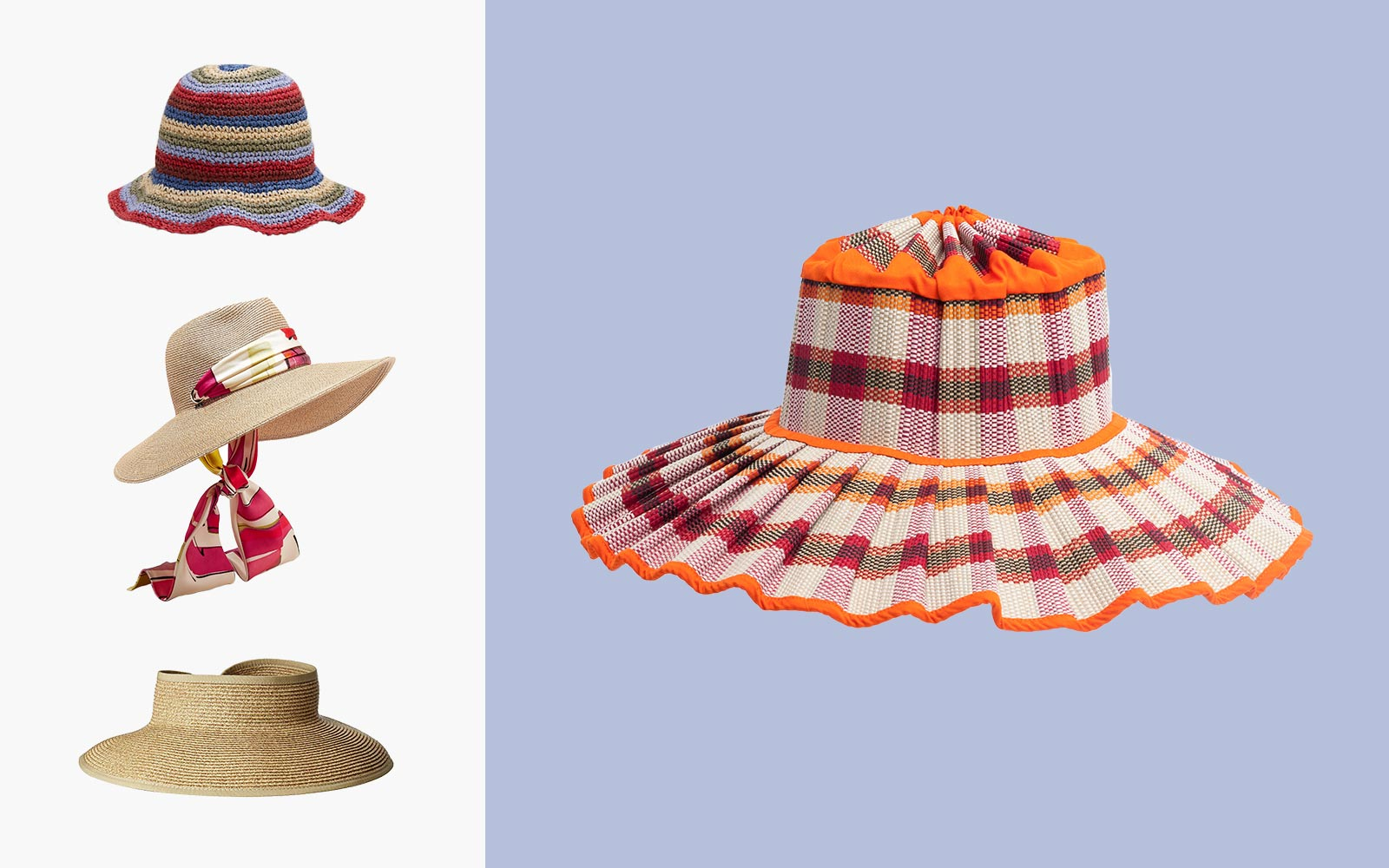 Packable summer hats