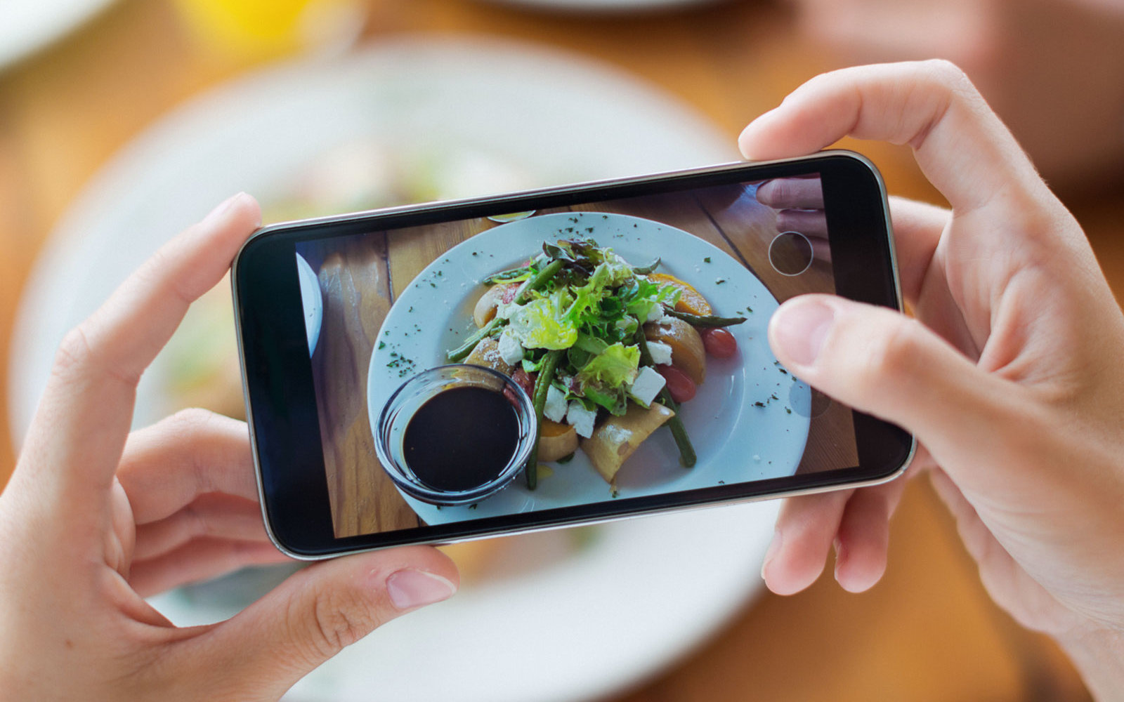 These Plates Stop You From Instagramming Your Meal (Or Try to, Anyway)