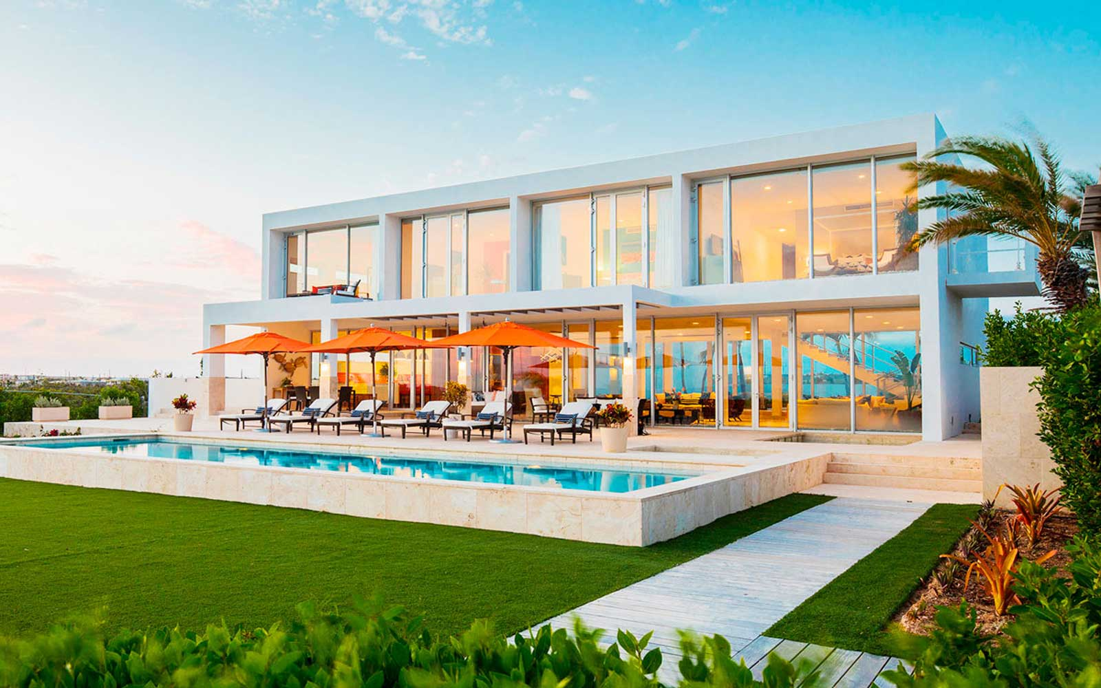 An oceanfront villa in Anguilla with private beach and a personal butler and house staff