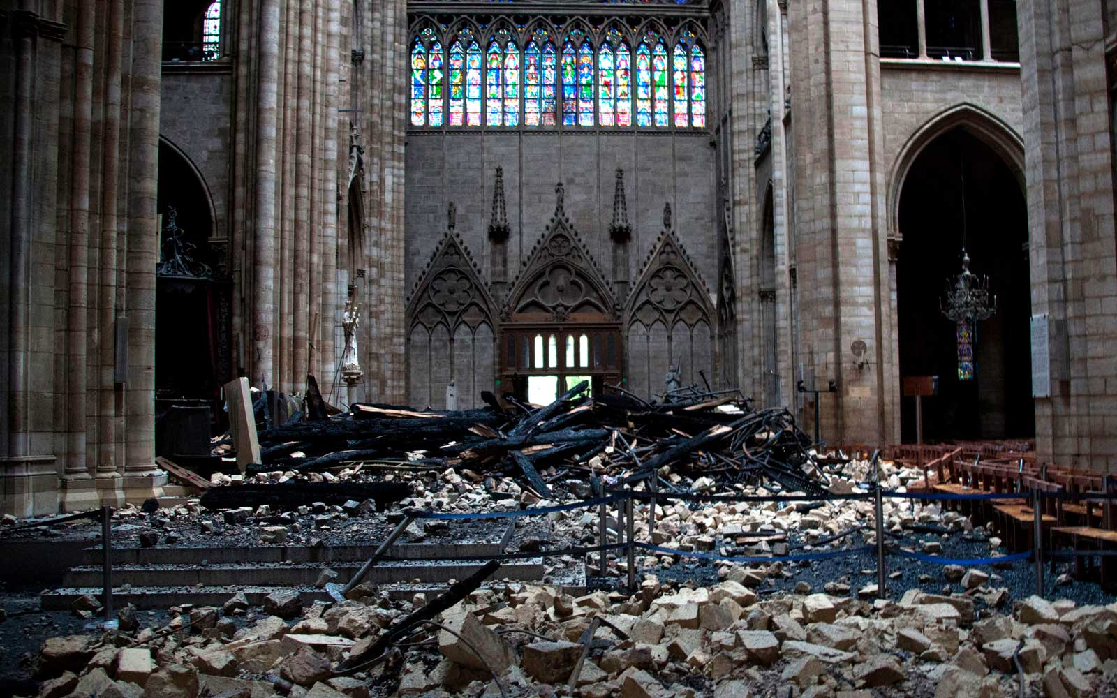 Notre Dame after the fire in Paris