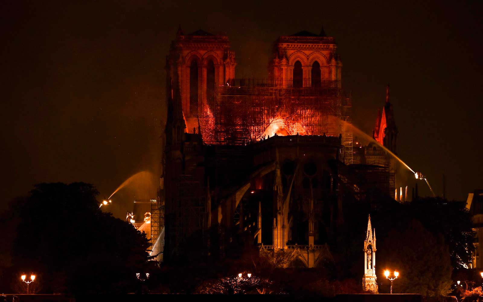 Notre Dame Cathedral Fire - Paris, France