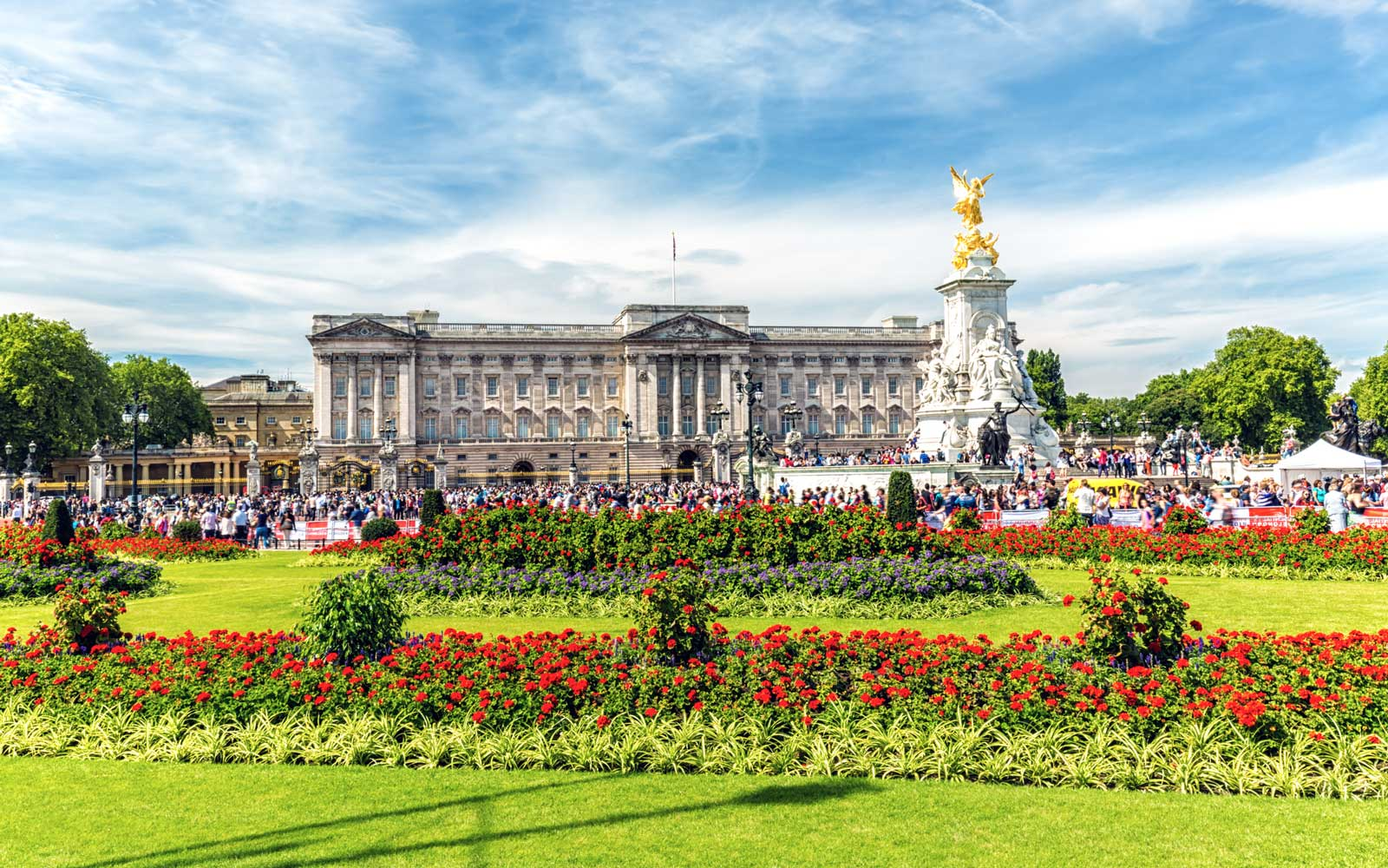 Buckingham Palace, London, summer