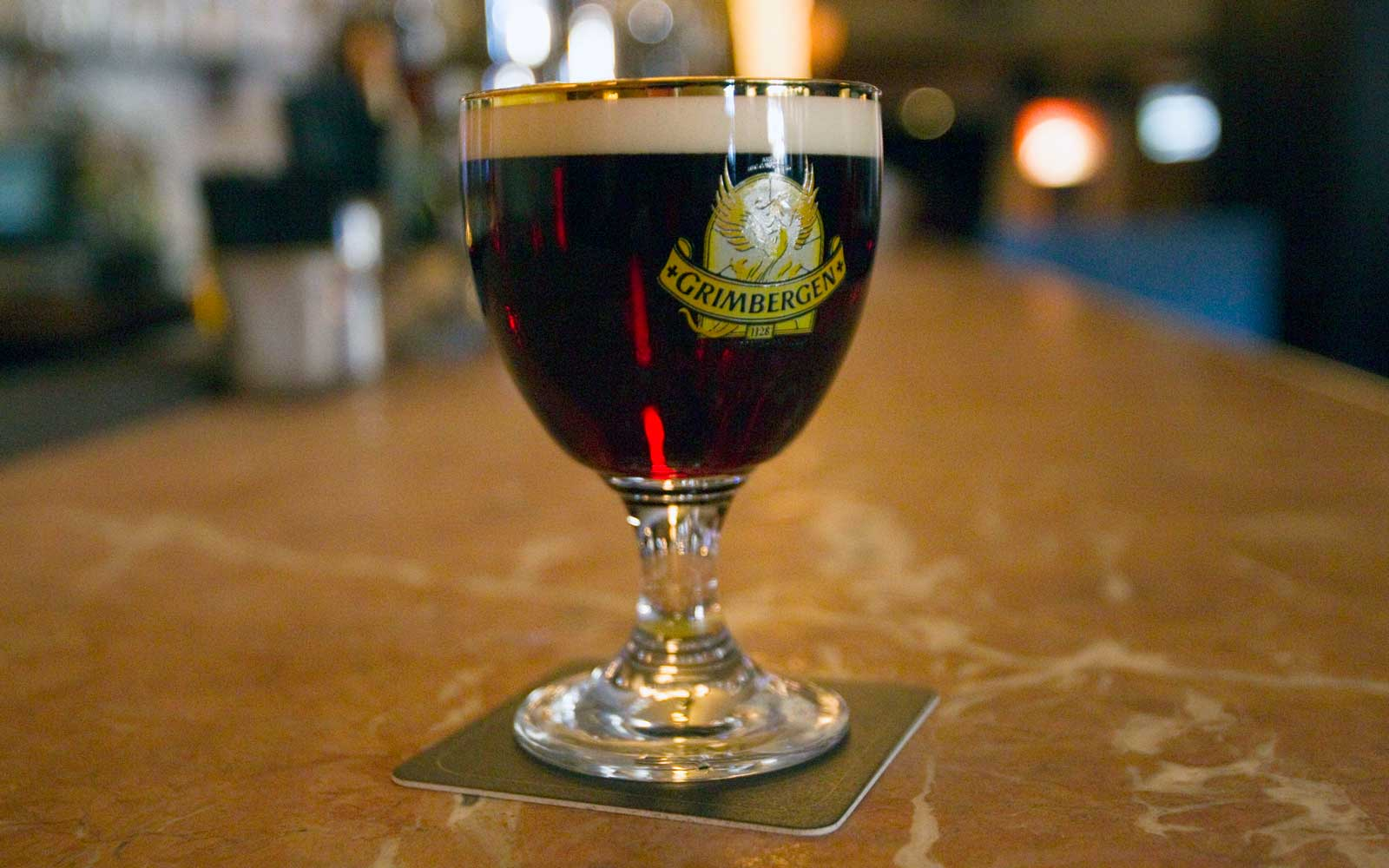 Grimbergen Dubbel draught, the legendary Belgian abbey beer