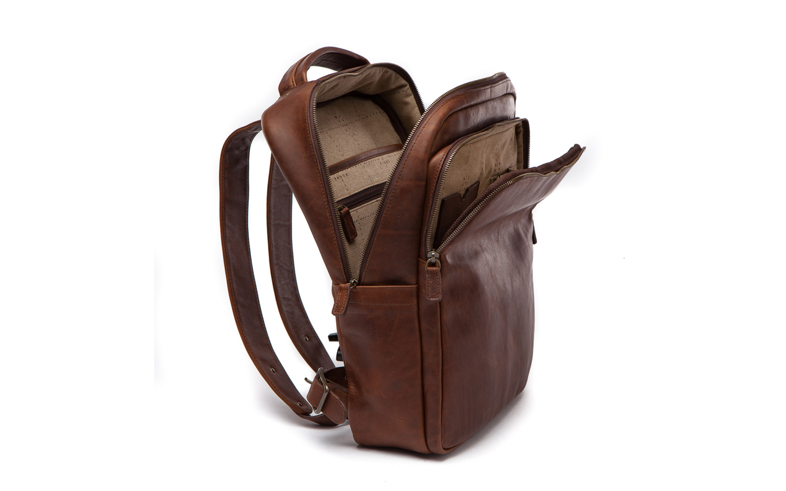 moore giles leather laptop backpack