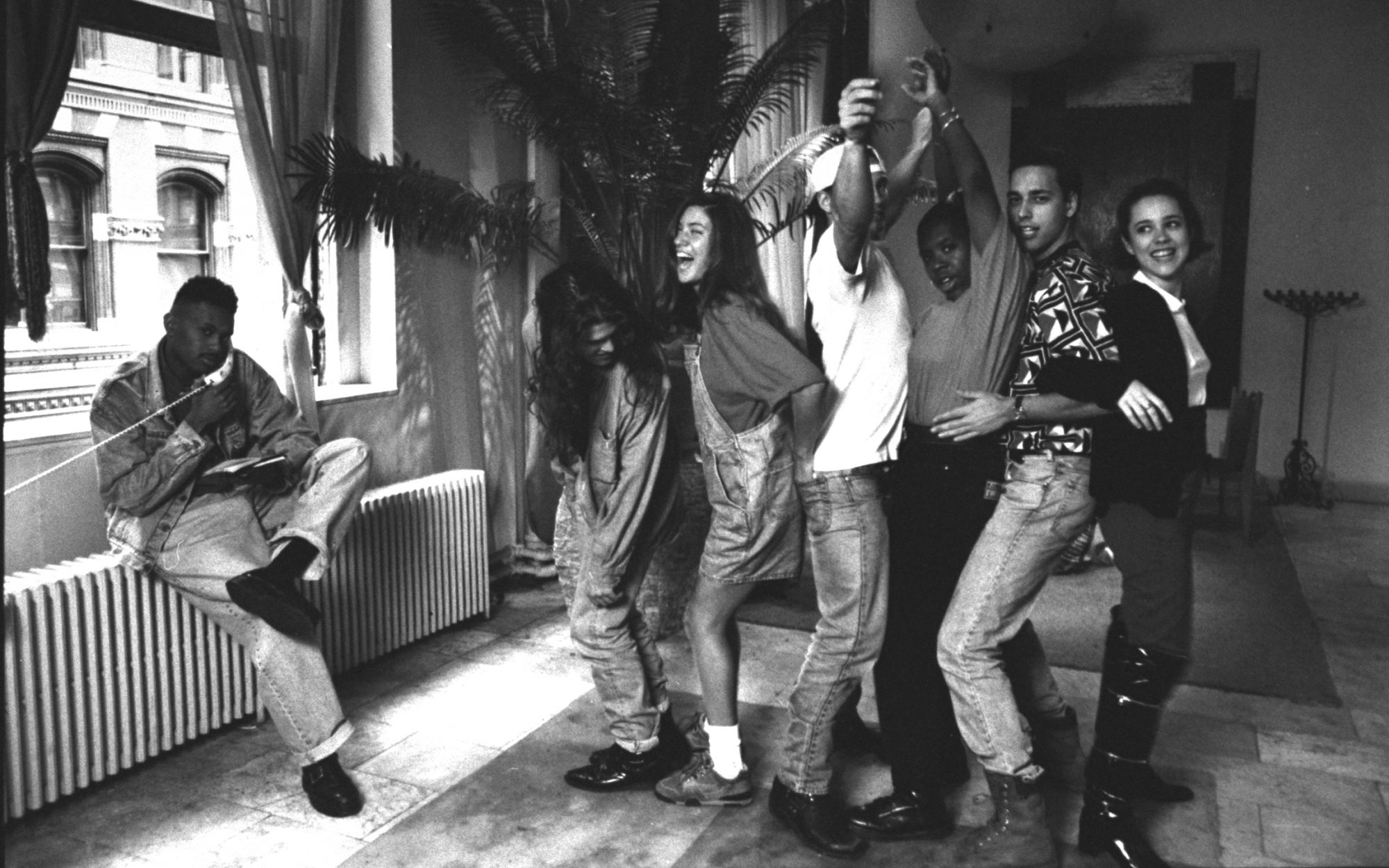 The original cast of MTV's The Real World, in their Soho loft in New York