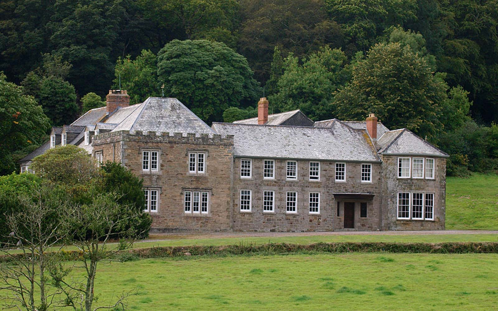 The main house on the Penrose Estate, Penrose, Cornwall