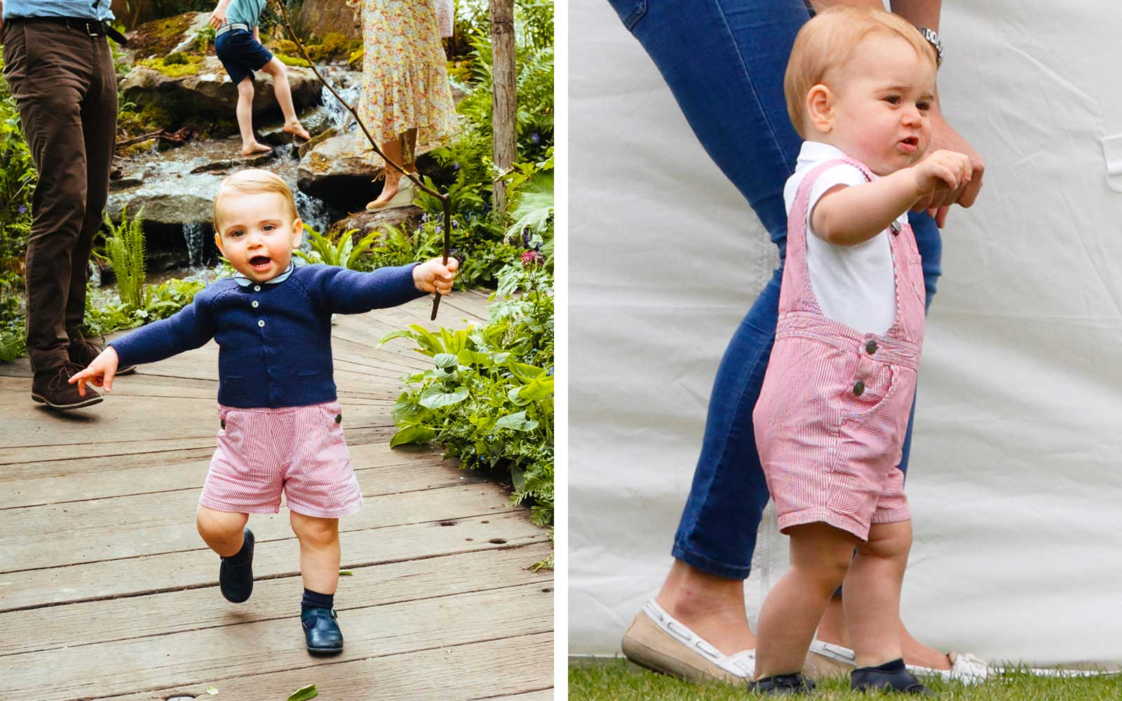 Prince Louis on the right, Prince George on the left