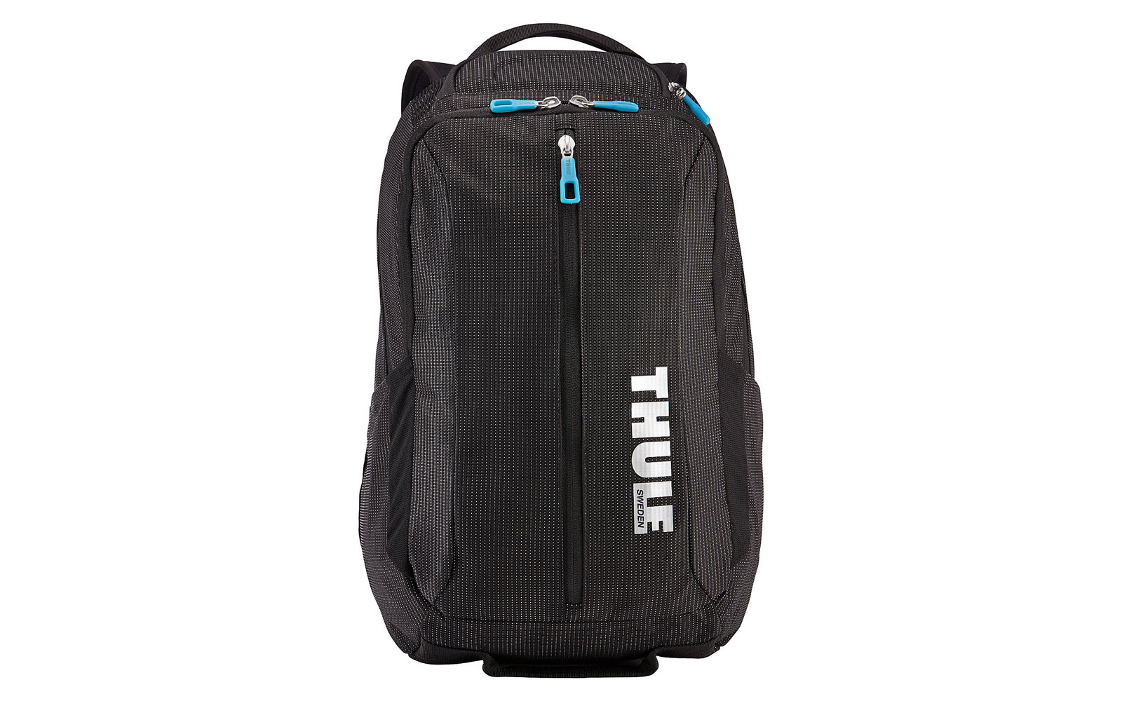 Black laptop backpack with blue details