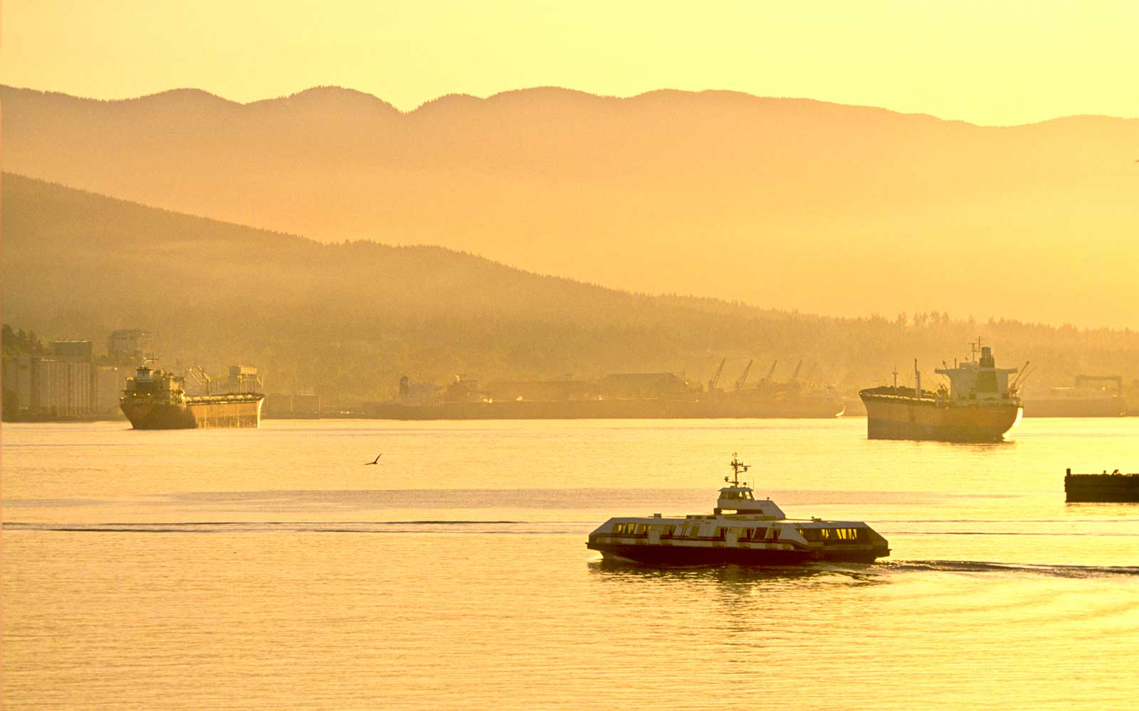 North Vancouver ferry and container port. Vancouver, British Columbia