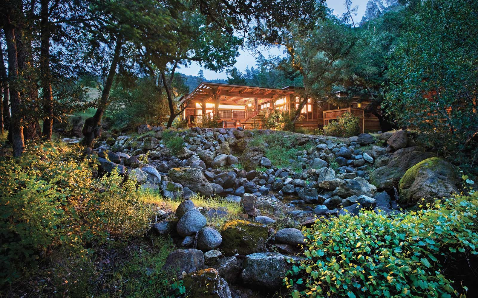 Calistoga Ranch lodge