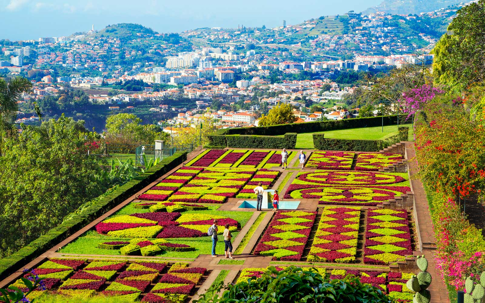 Madeira Botanical garden is located at a distance of three kilometers from the center of Funchal, Portugal