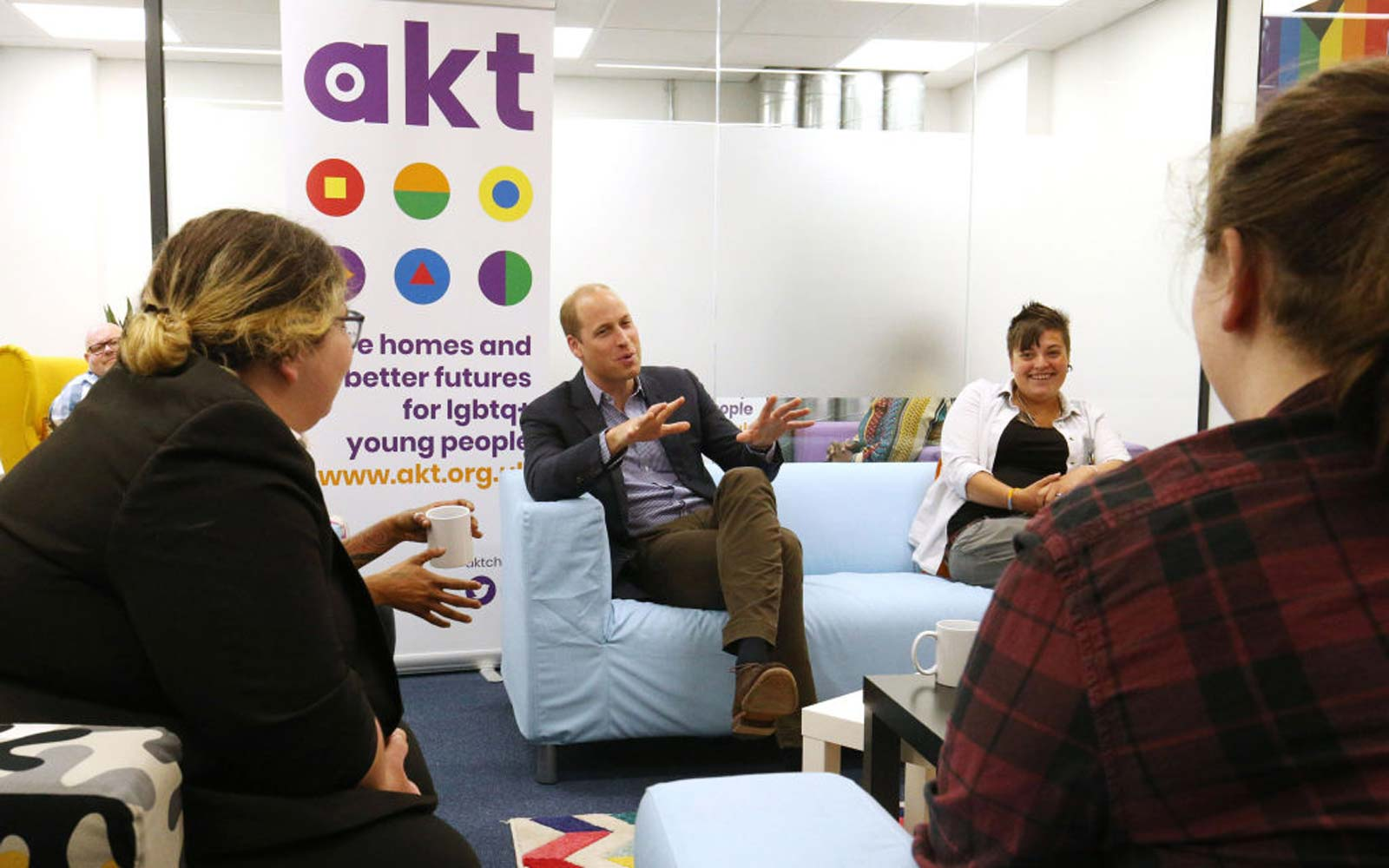 The Duke Of Cambridge Visits The Albert Kennedy Trust