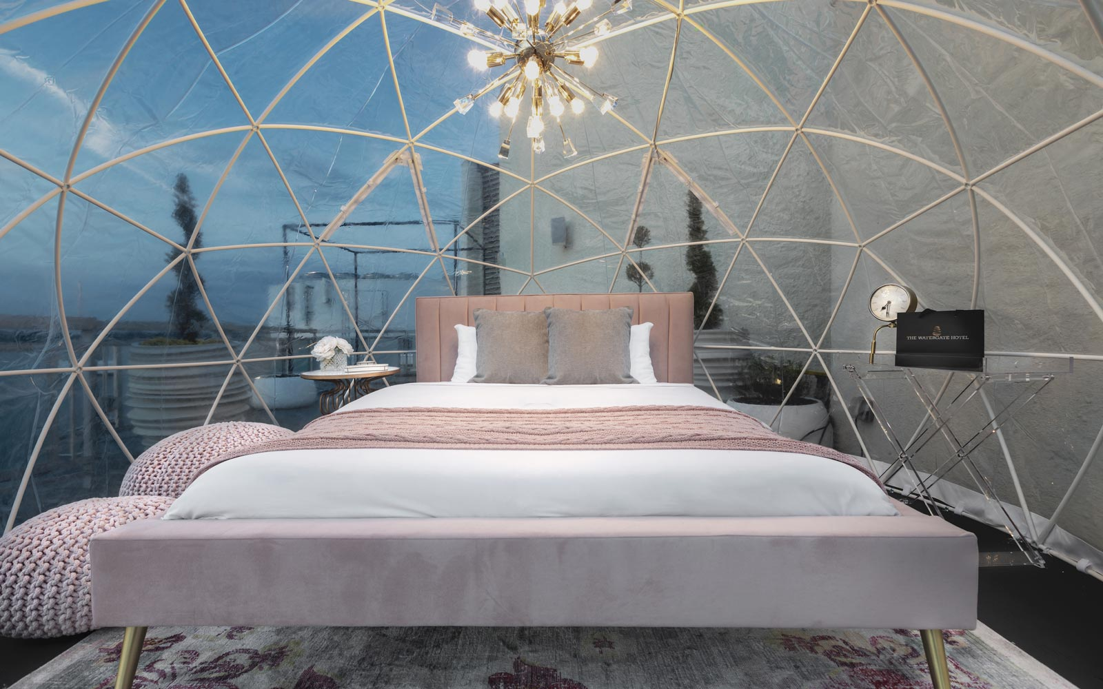 Watergate Hotel rooftop glamping
