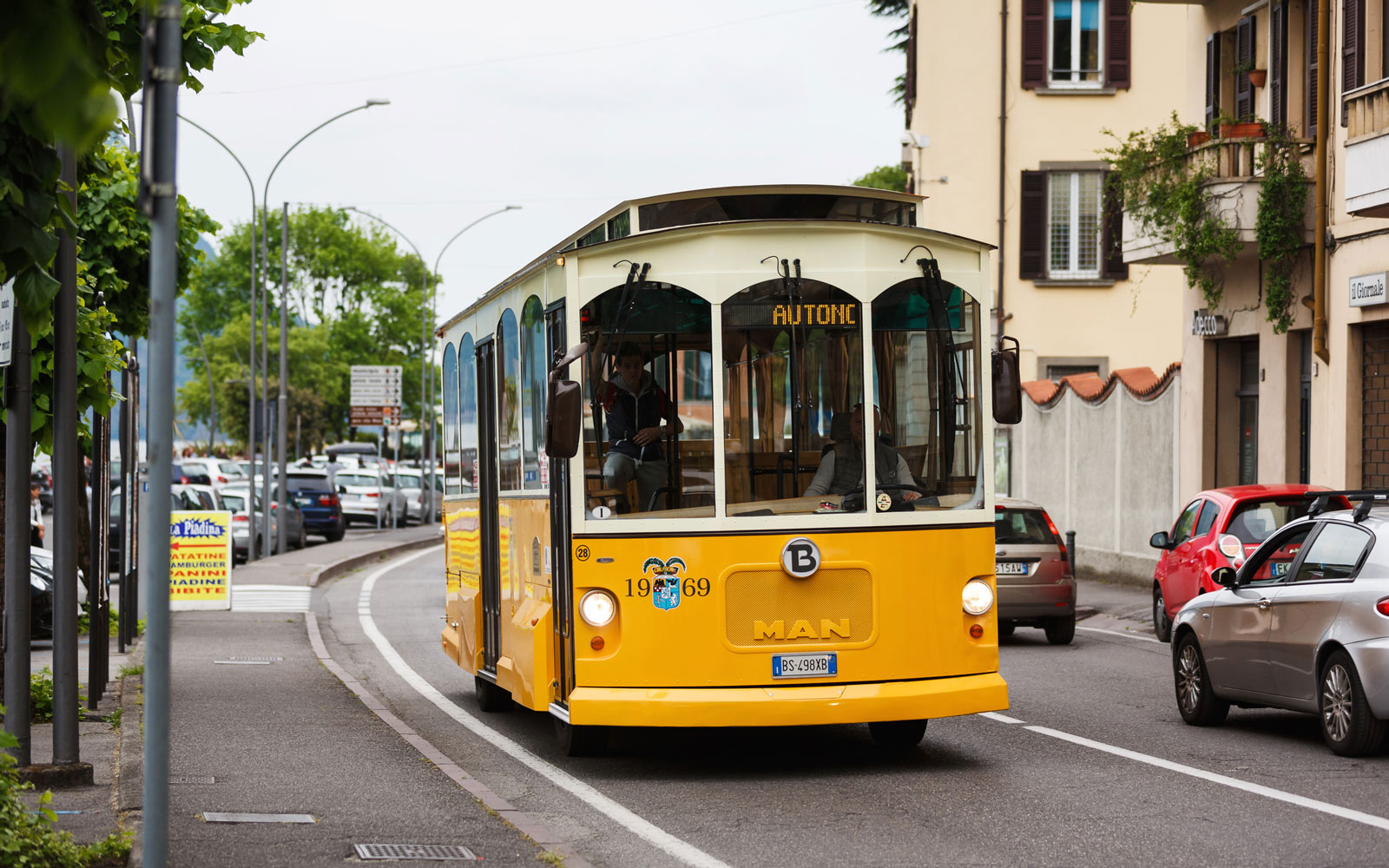 A trolley in Loevere, Italy
