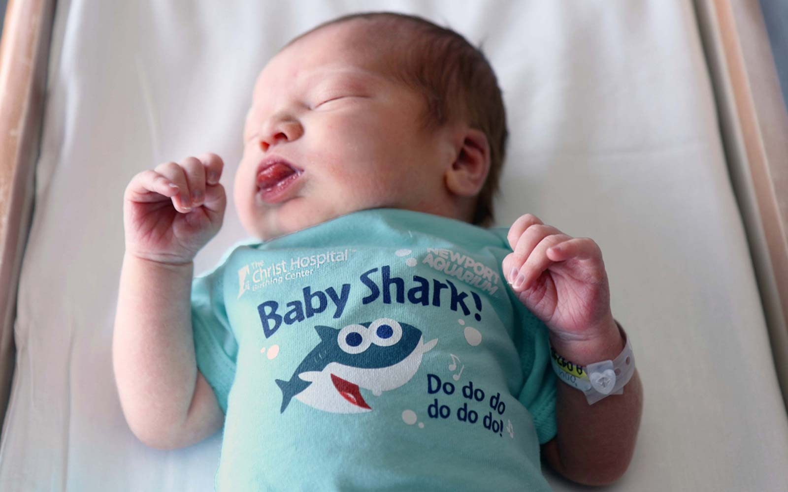 Infants Born During Shark Week Will Get Adorable 'Baby Shark' Onesies at a Cincinnati Hospital