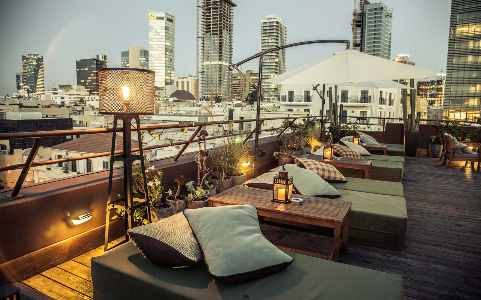 Rooftop bar and terrace at the Brown TLV