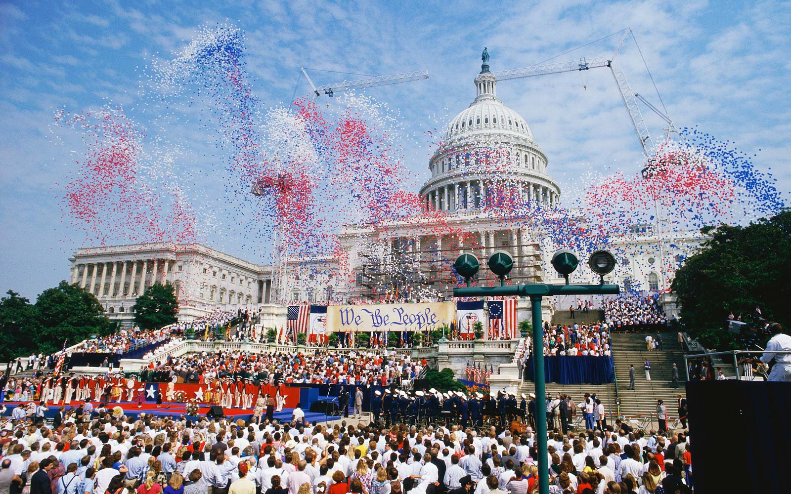 Celebration at the Capitol building, Washington, DC