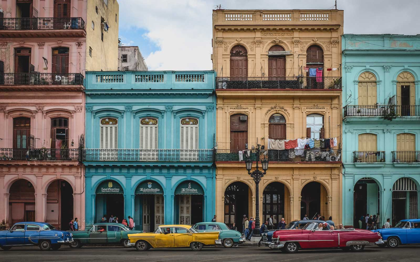 A photo of colonial buildings in old Havana, Cuba