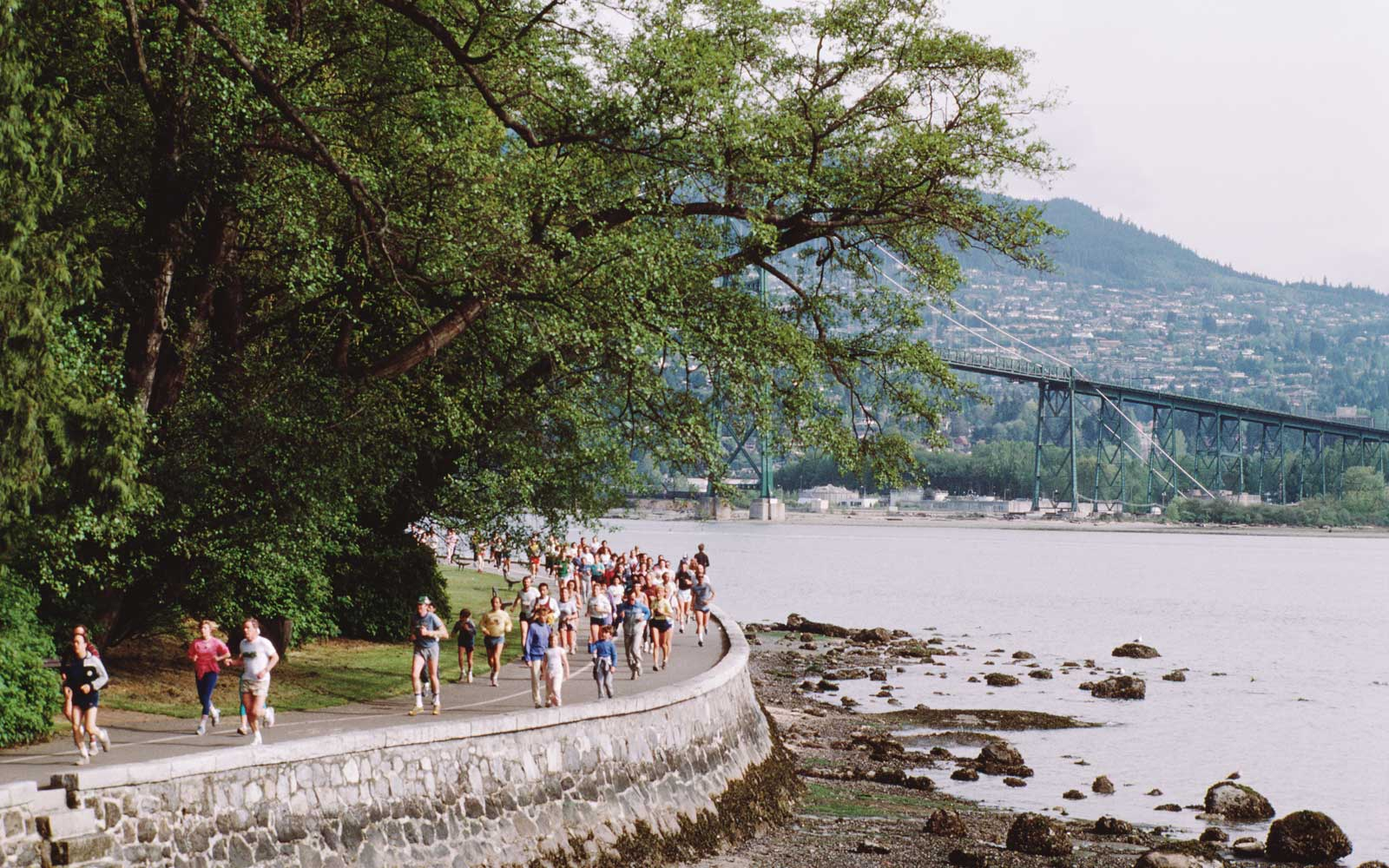 Running in Stanley Park, Vancouver, Canada
