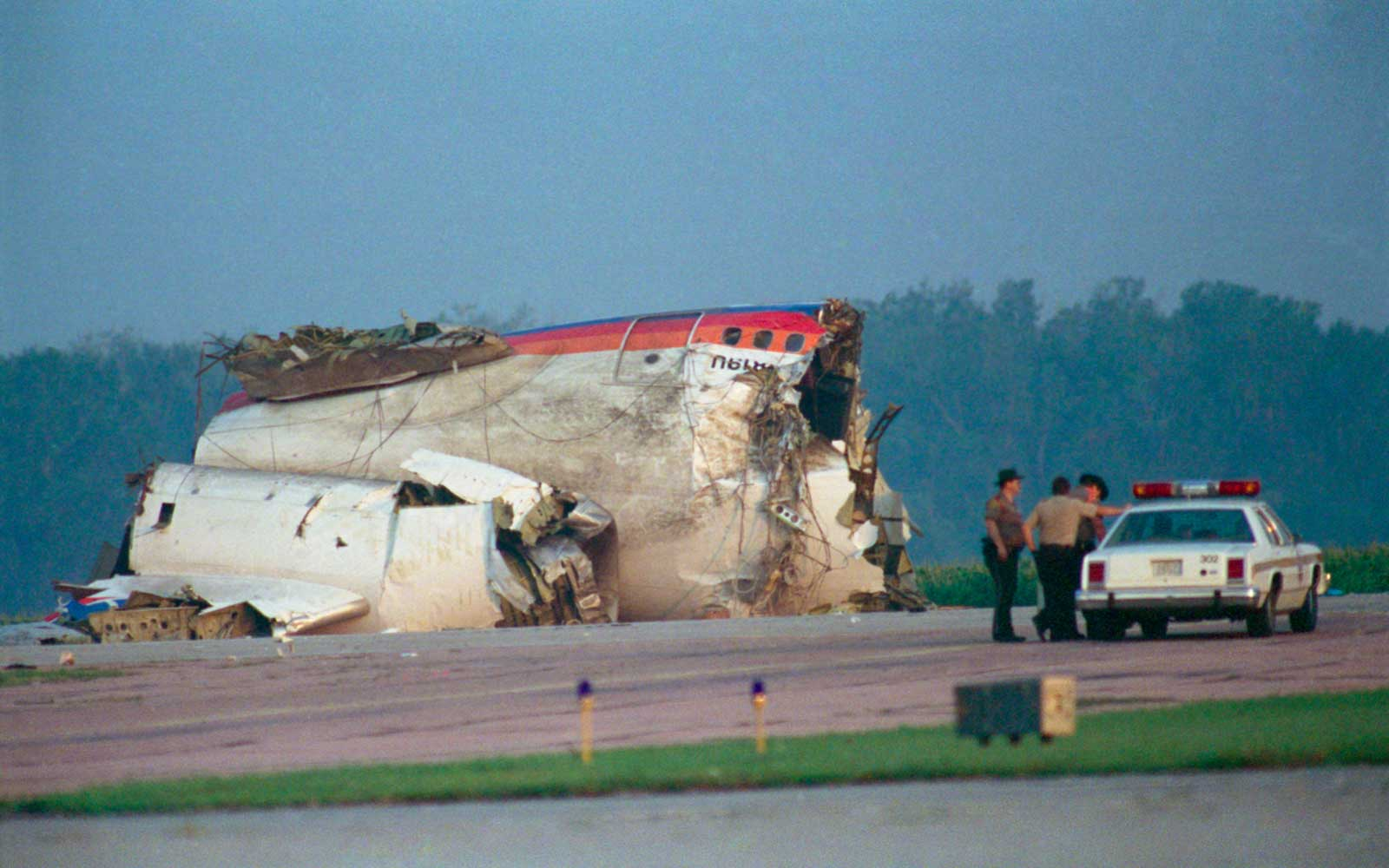 Debris from the Crashed United Airlines Flight 232