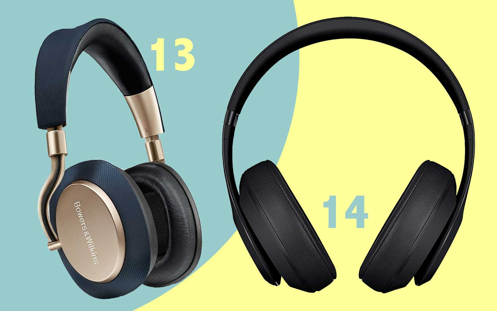 Wireless noise-canceling headphones by Beats and Bowers & Wilkins