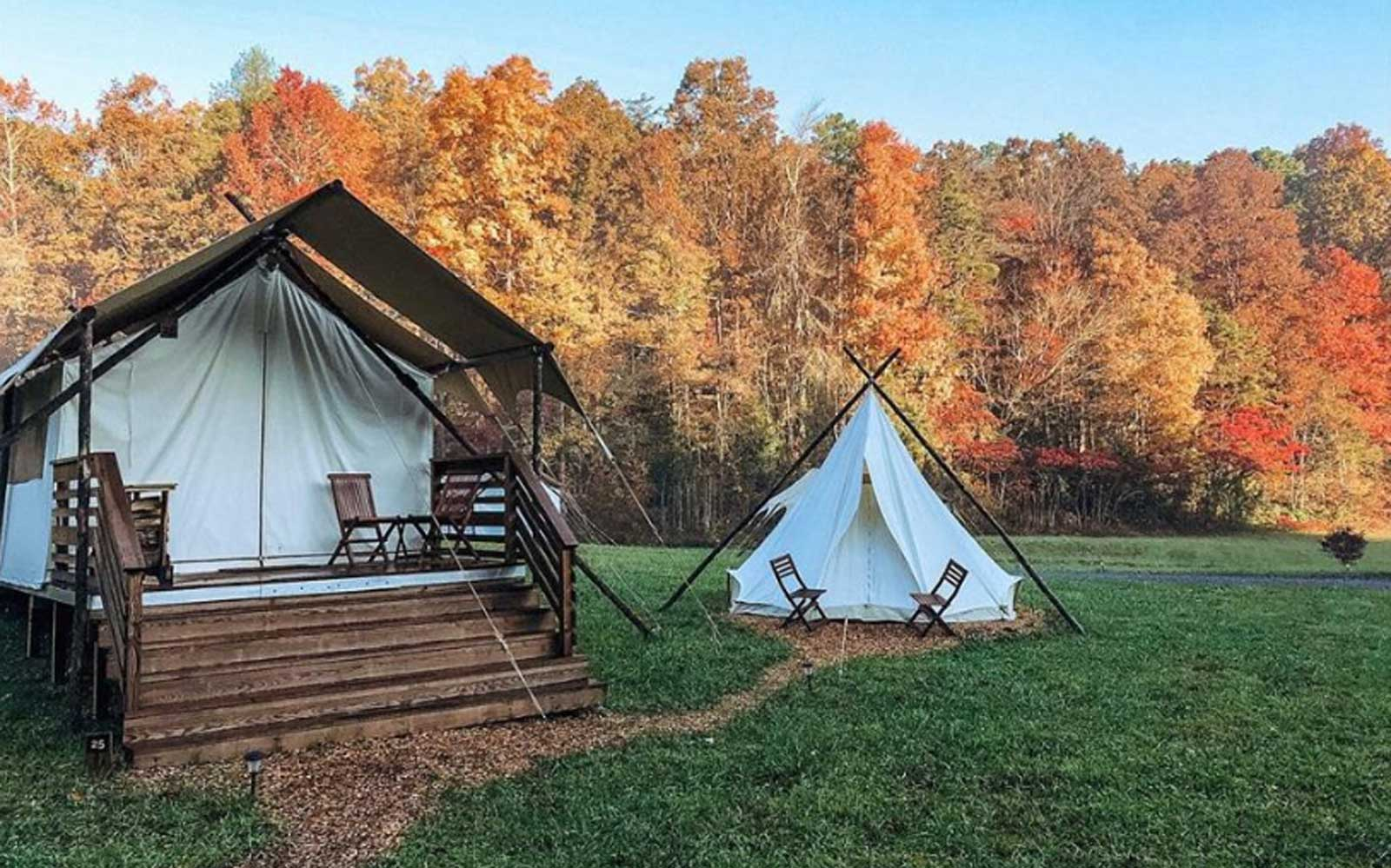 Under Canvas glamping tent