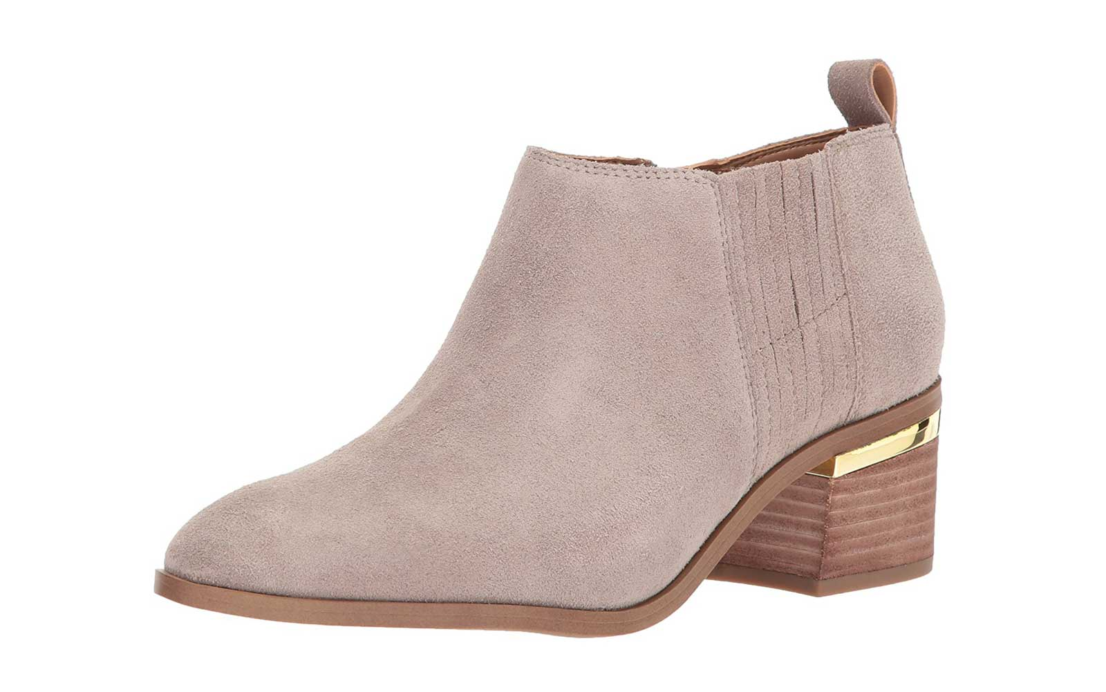 Heeled Booties With a Metallic Touch