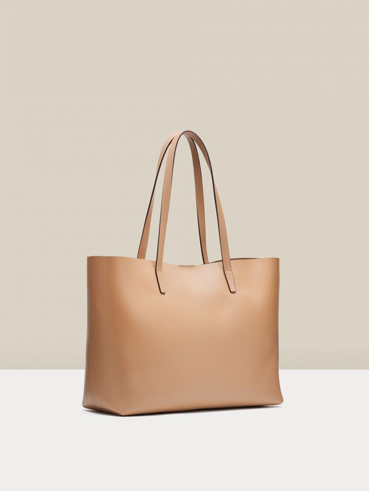 Soft Belmont Structured Tote in Camel Leopard
