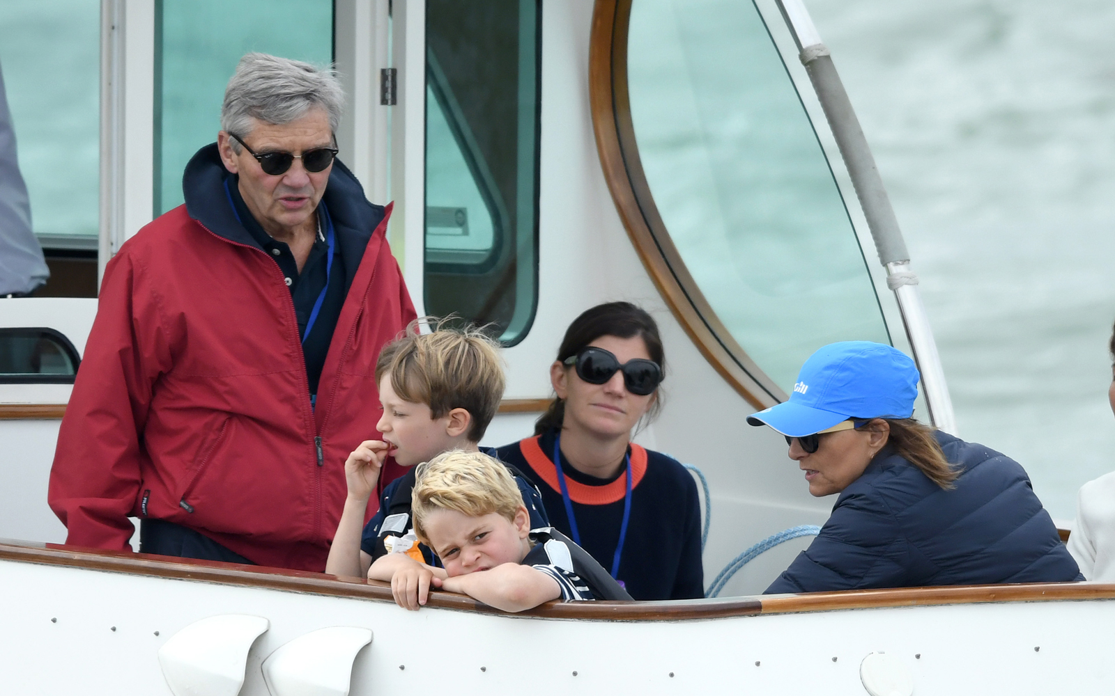 Michael Middleton, Prince George, and Carole Middleton