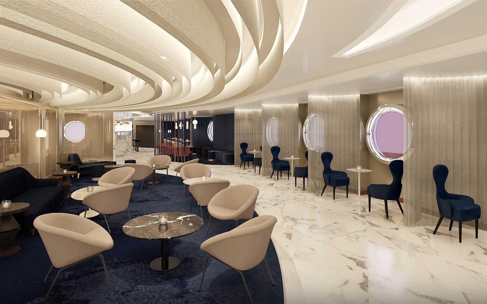 Virgin Voyages Champagne Lounge