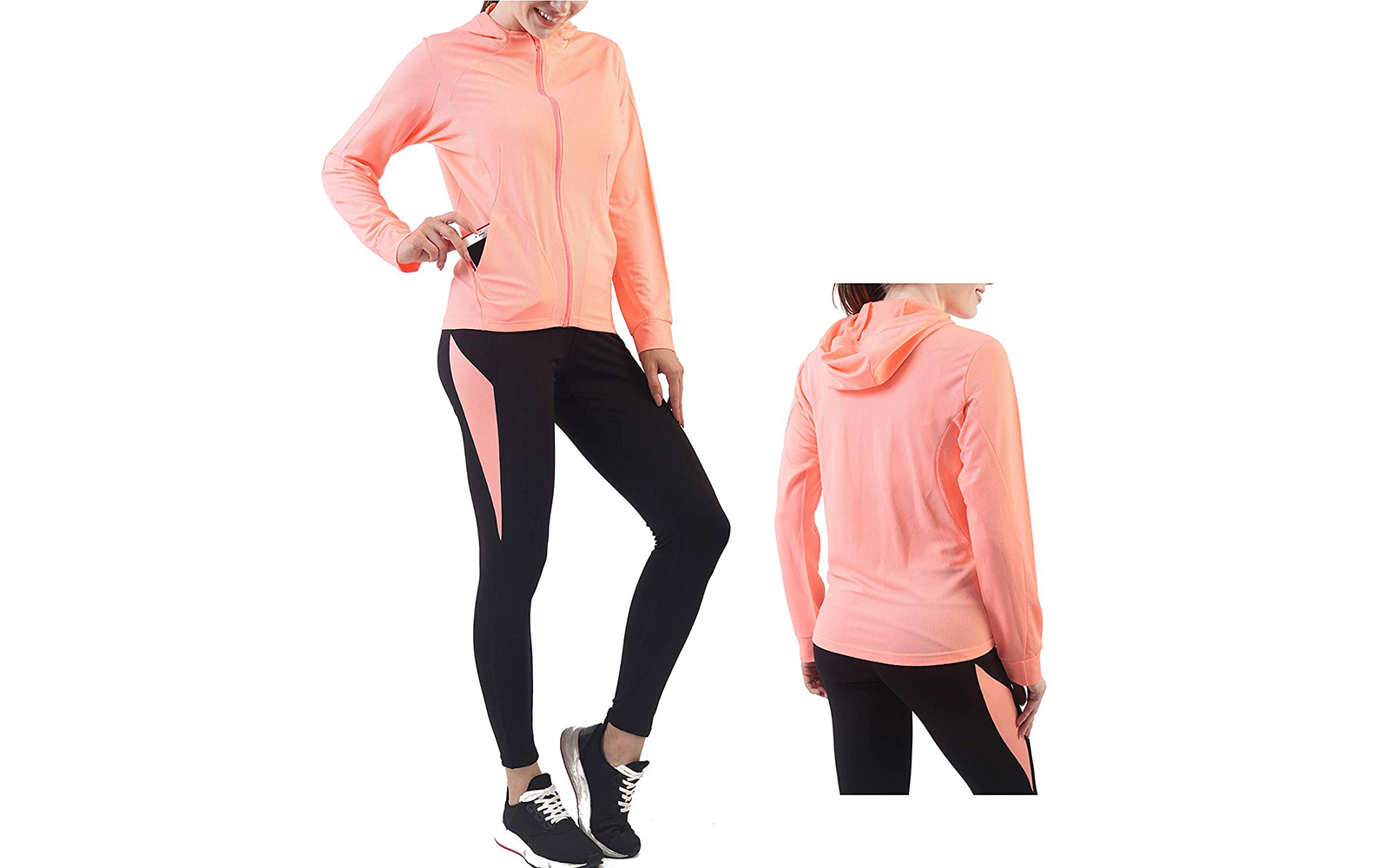 Activewear Sets for Women-Track Leggings Pants Hoodie Jackets 2 Piece Set