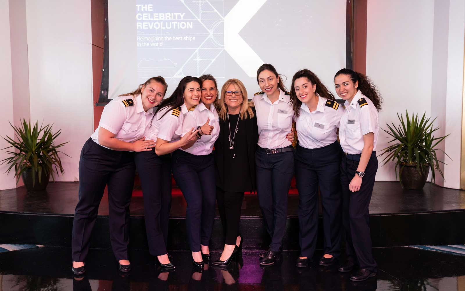 All-female team on Celebrity Cruises for Intl Womens Day