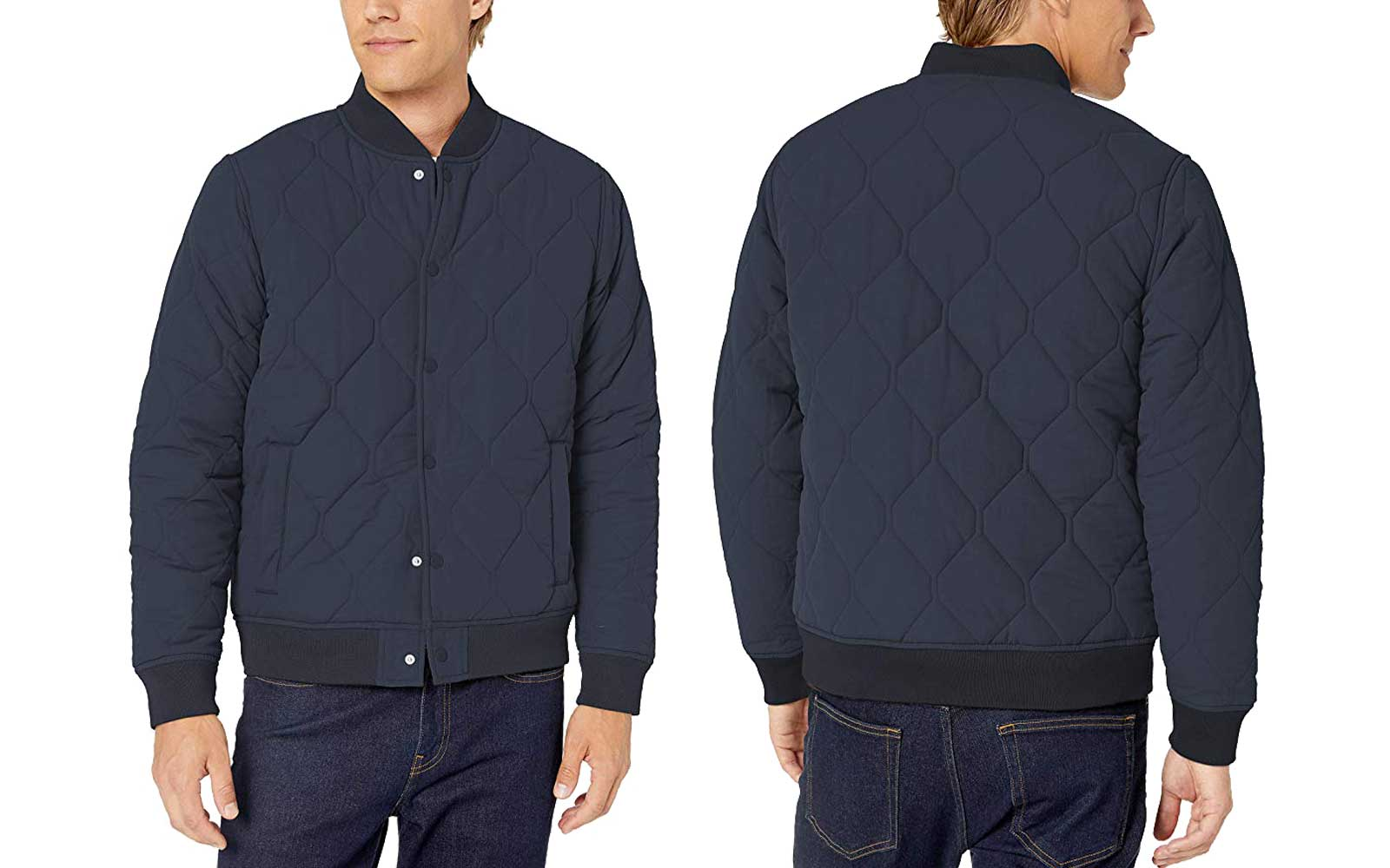 Navy Men's Bomber Jacket