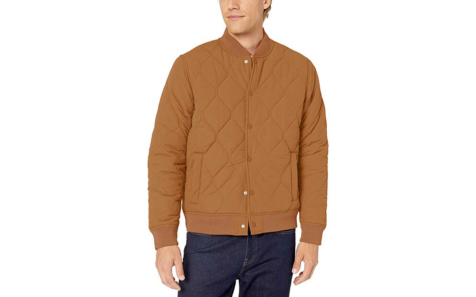 Tan Men's Bomber Jacket
