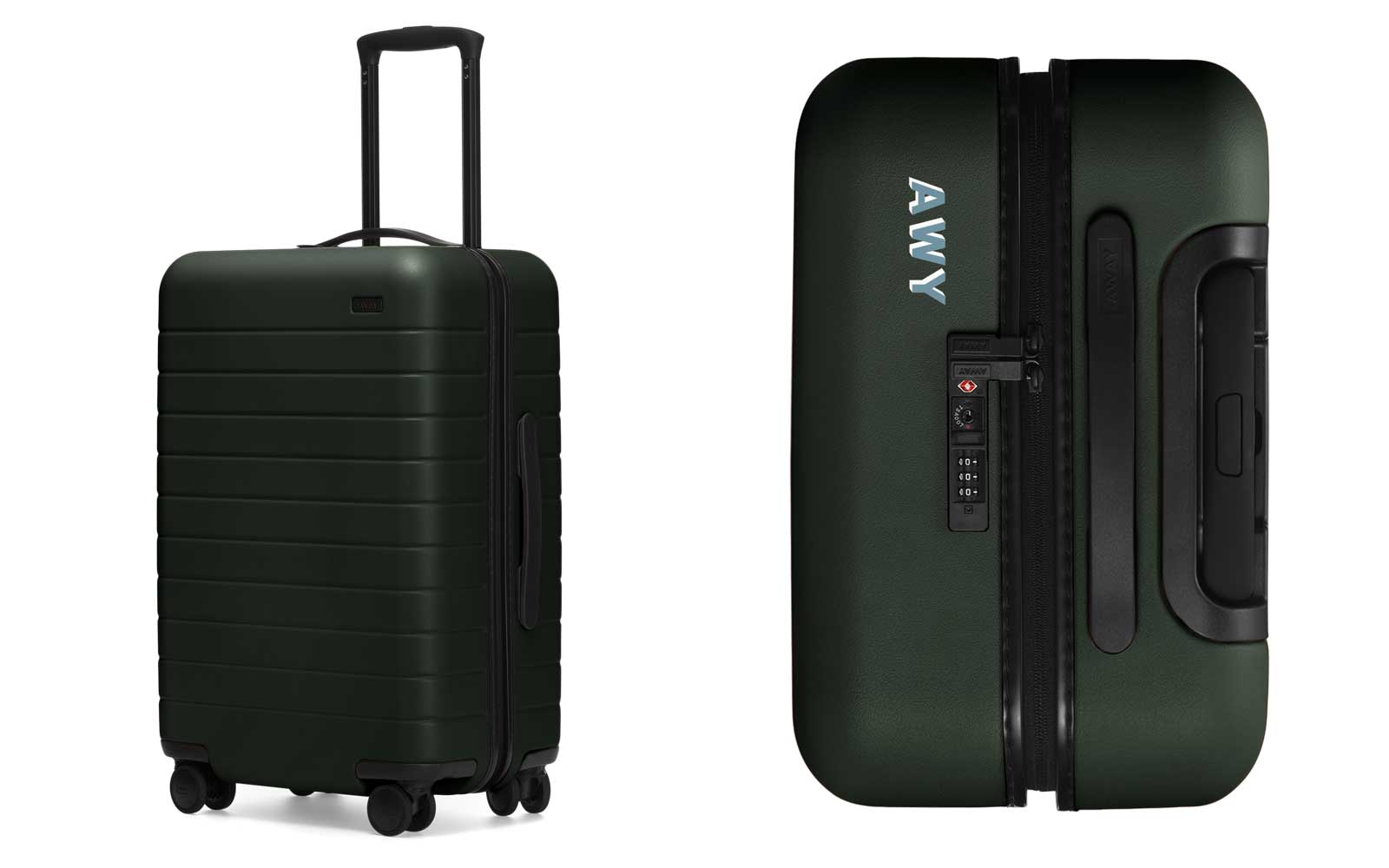 Away Bigger Carry-on Personalized in Green