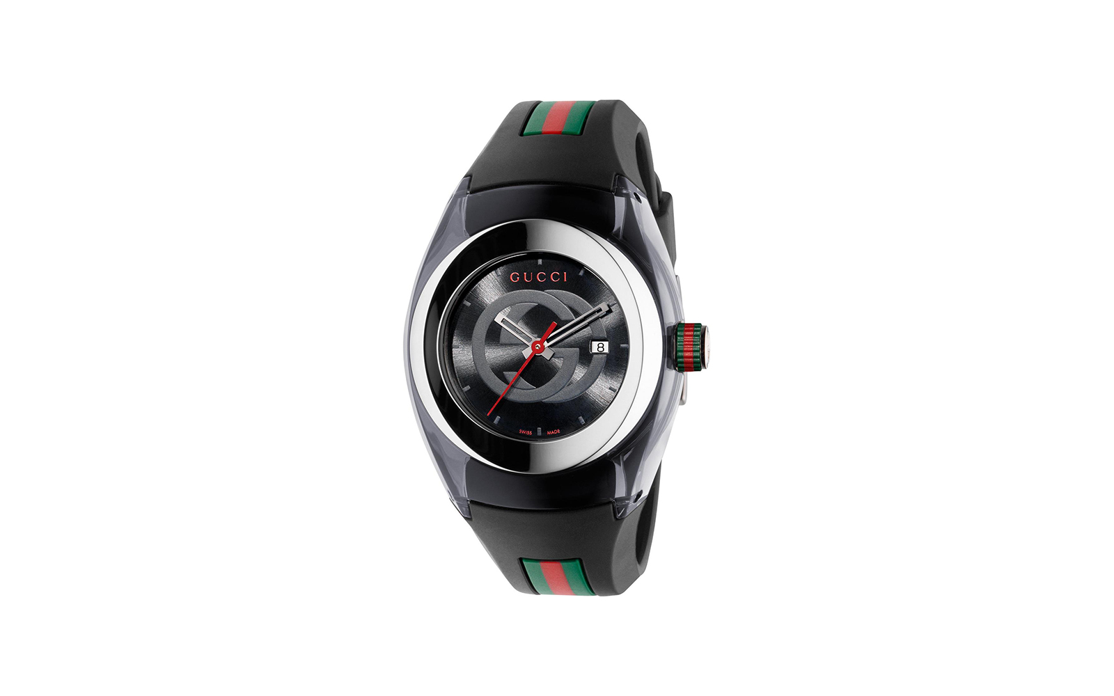 Gucci Unisex Sync Rubber Black 46mm Watch
